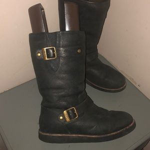 Ugg Kensington II boots black leather sz 8 1004144